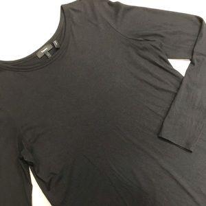 Theory Ailer Long Sleeve Top Shirt Pima Cotton L